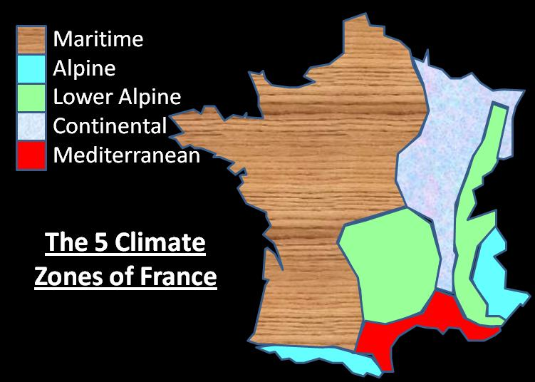 Map Of France Zones.Climate In France