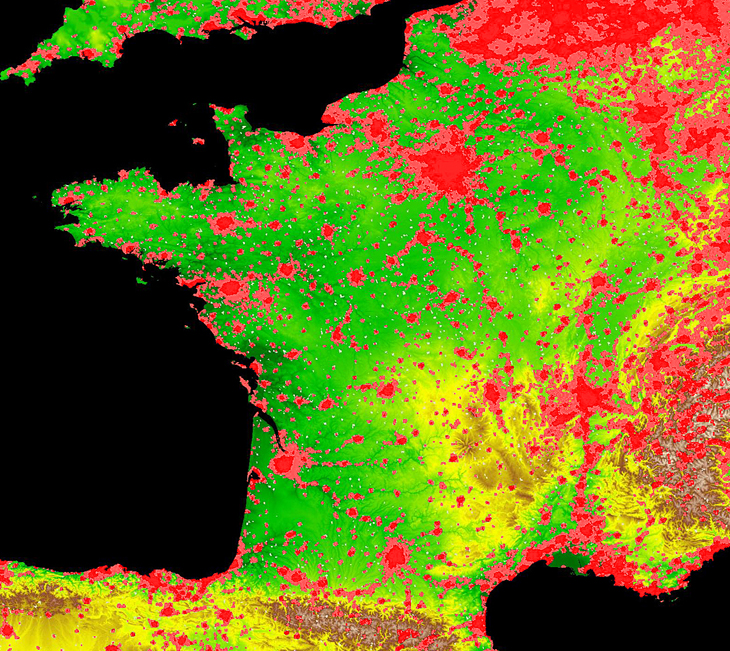 Frances Population - France geographical map