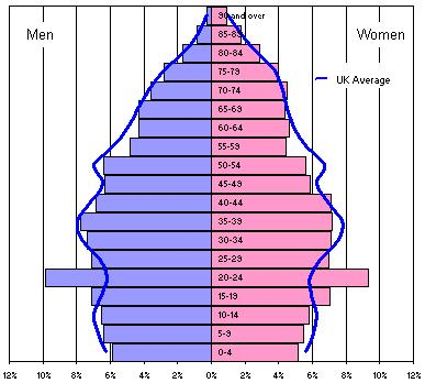 age structure pyramid of india