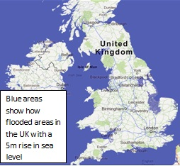 Map Of Uk If Sea Levels Rise.Sea Level Change