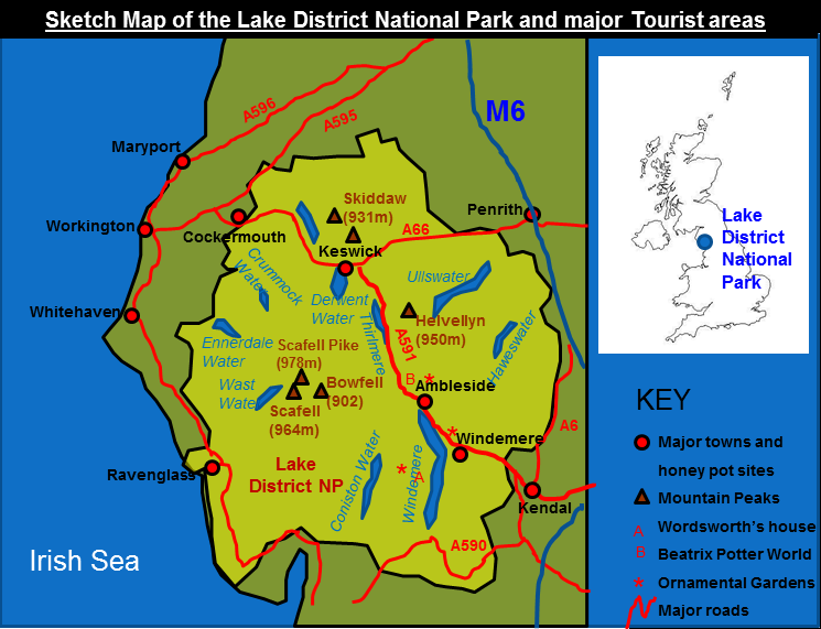lake district in uk map Lake District Case Study lake district in uk map