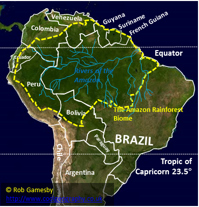 Map of the Amazon