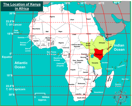 Location of Kenya