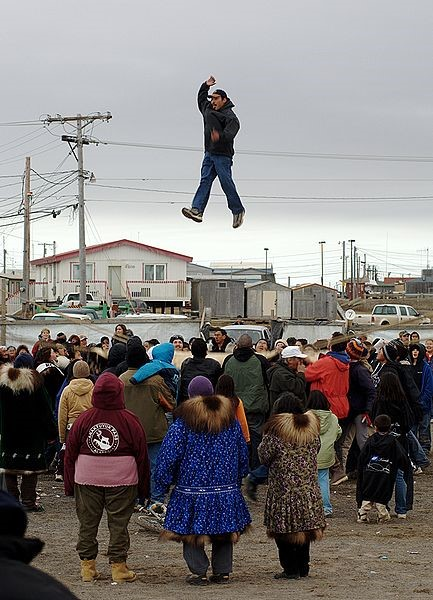 Blanket toss at Nalukataq in Barrow, By Floyd Davidson