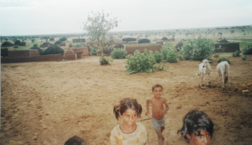 Village in Thar desert