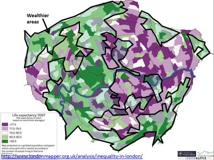 London Life expectancy
