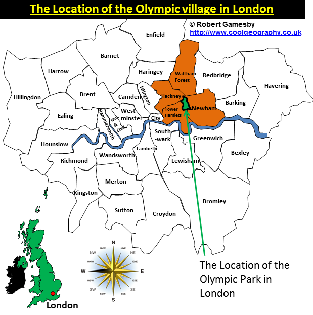 Location of Olympic Park